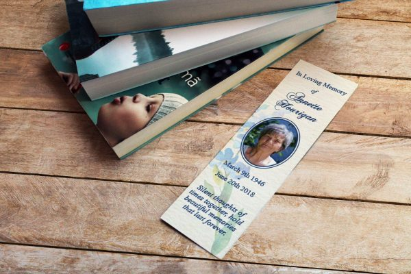 Memorial cards bookmark in loving memory