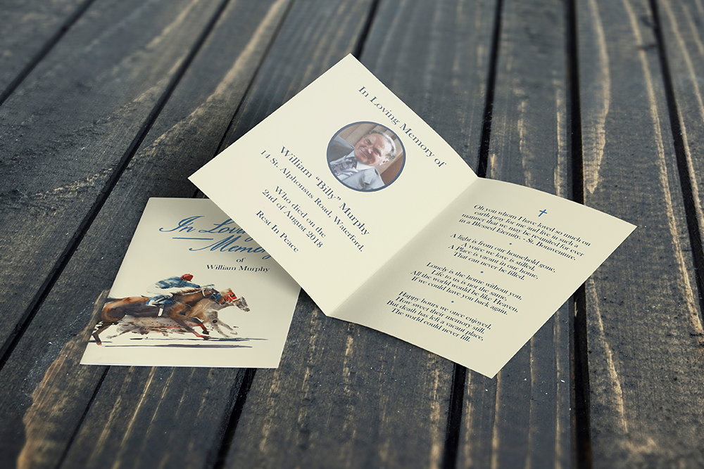 memorial cards horses