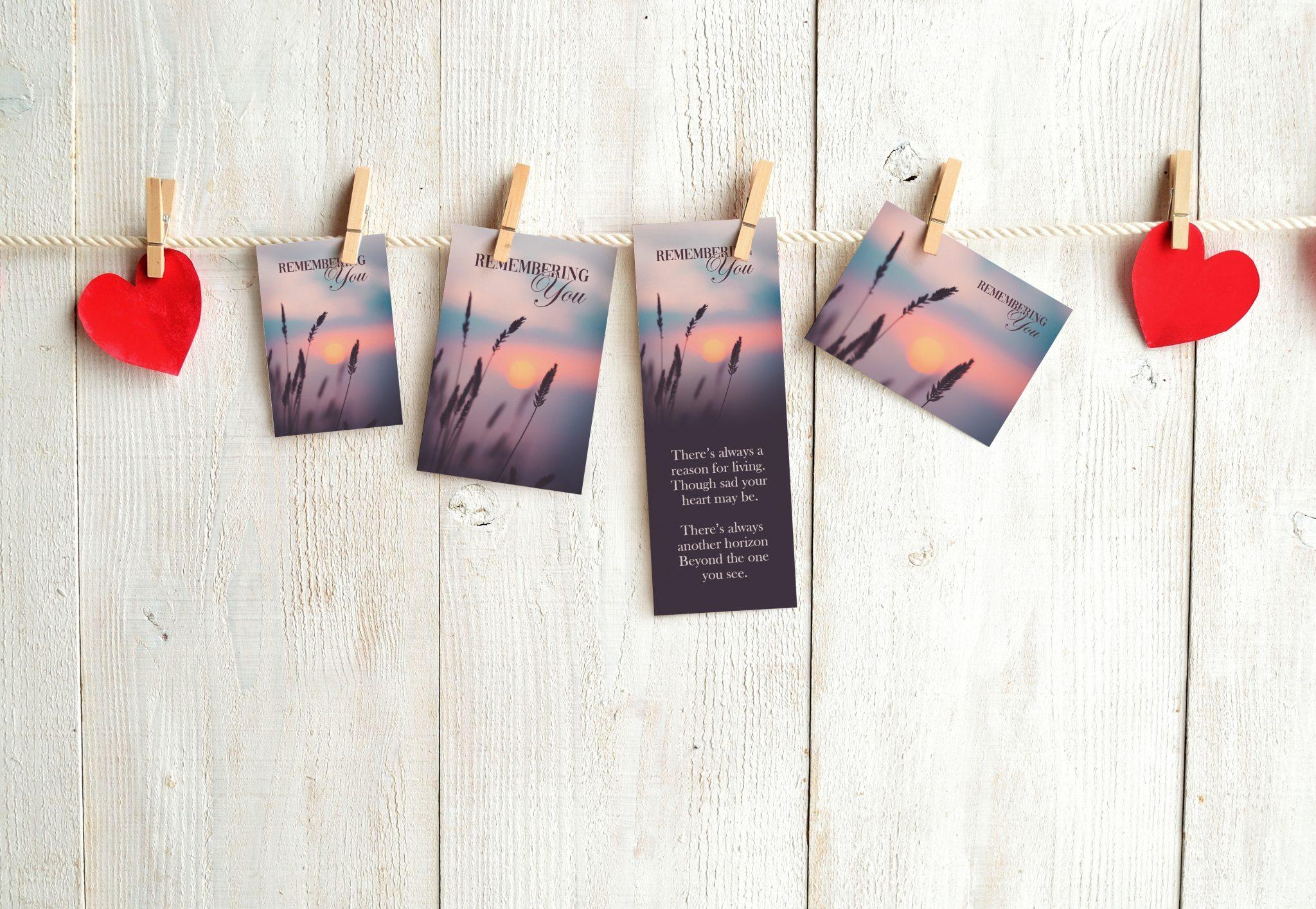 Memorial cards sample pack