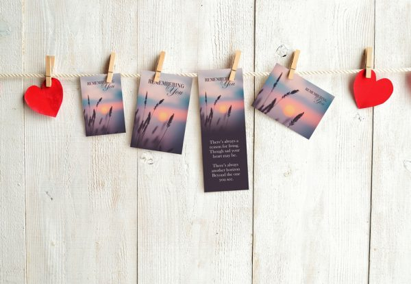 memorial cards sample pack