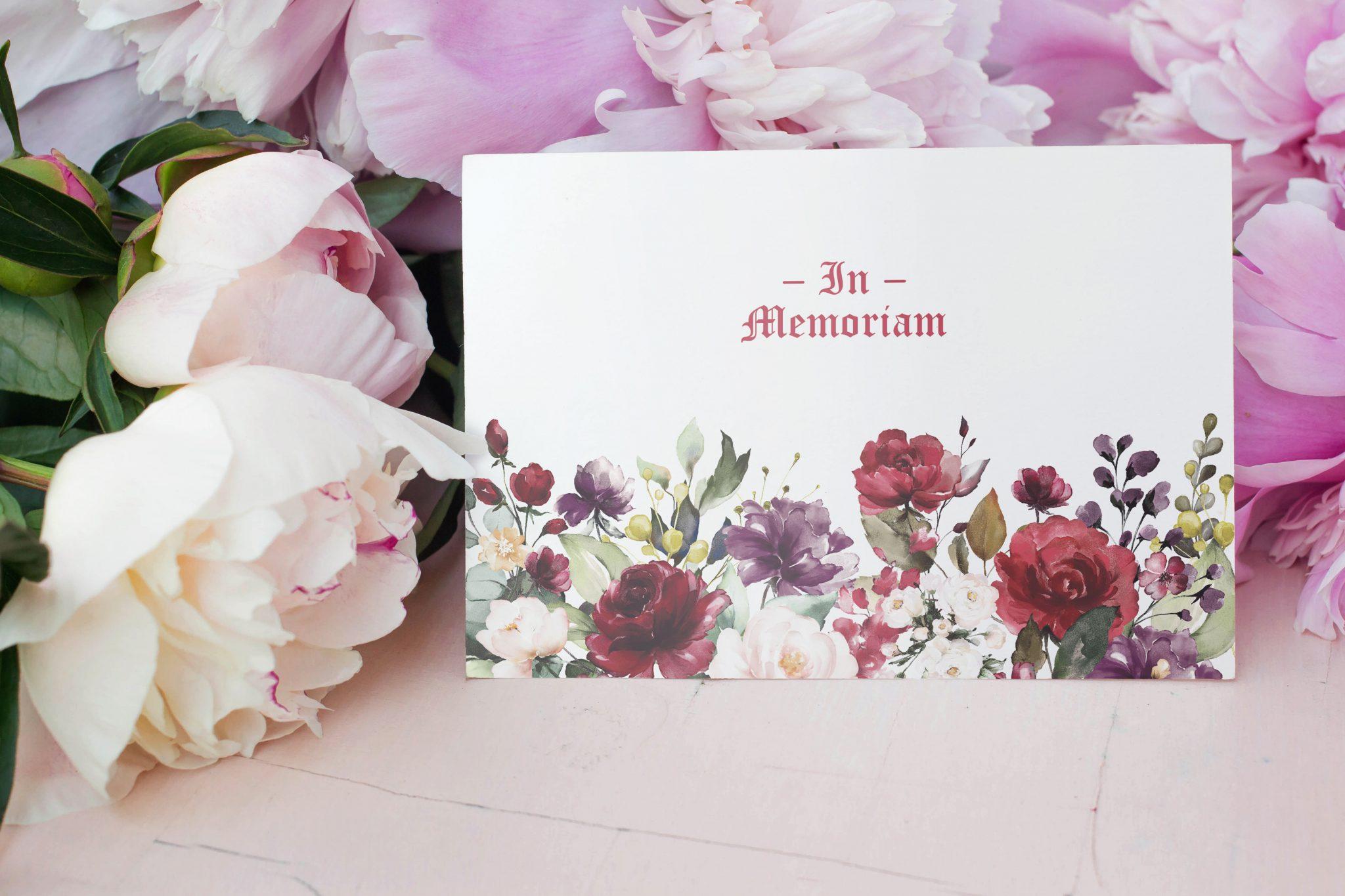 memorial cards gallery roses