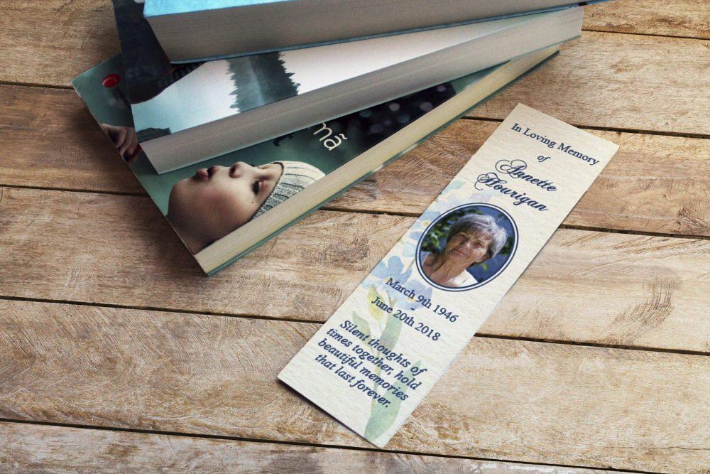bookmark blue flower
