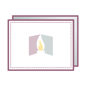 memorial cards thank you icon