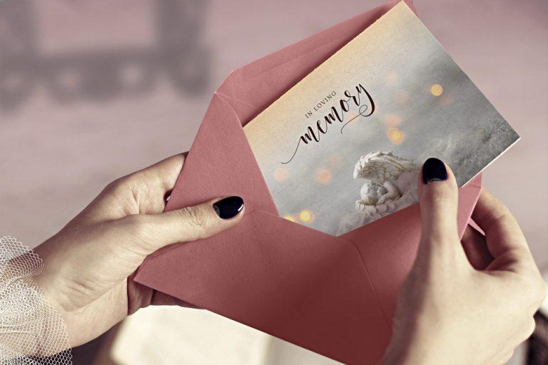 thank you card cherub