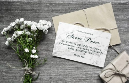 thank you card white flower